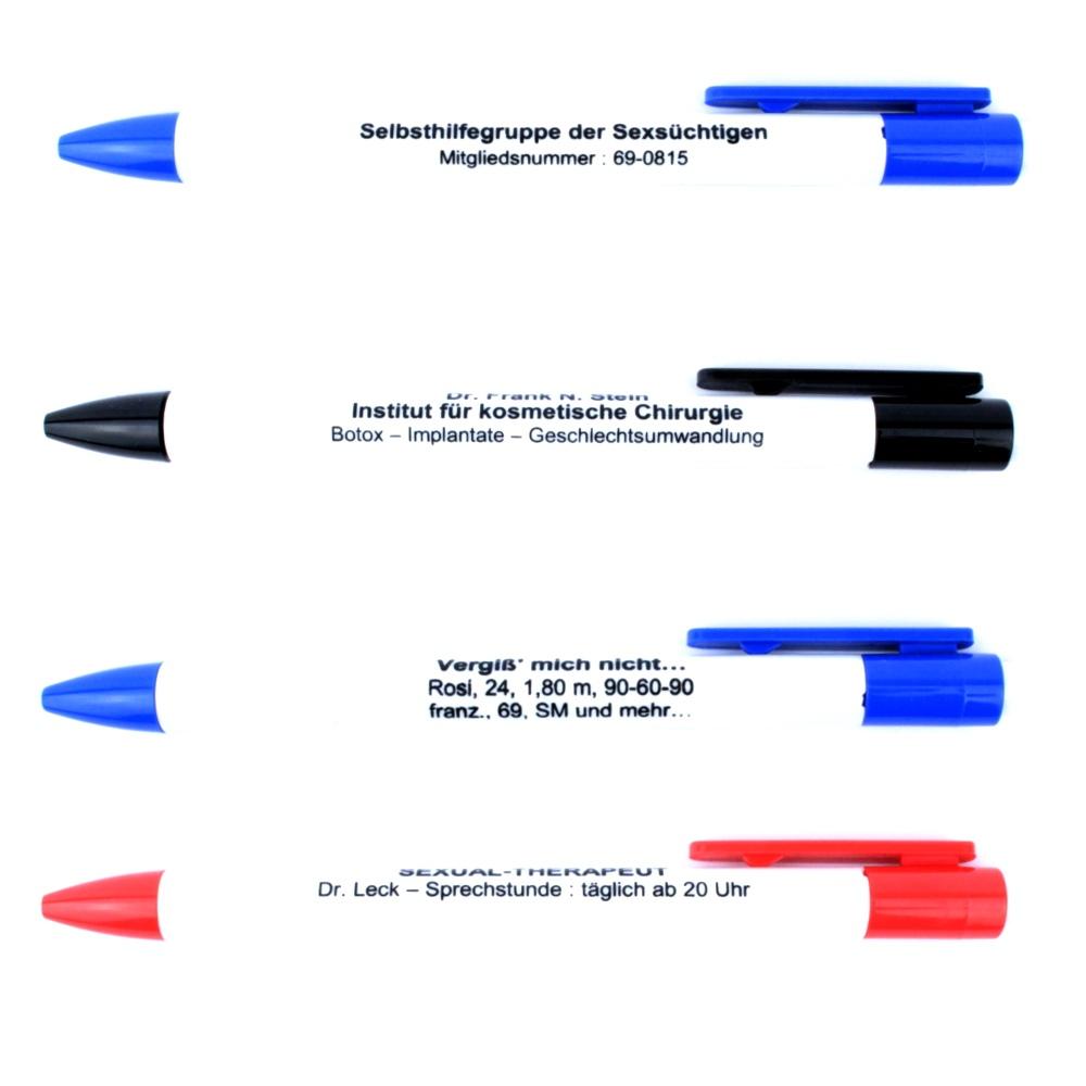 kugelschreiber sprüche Kugelschreiber mit frechen Sprüchen kugelschreiber sprüche